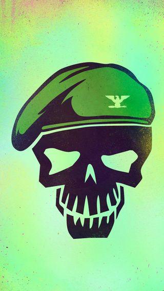 Обои на телефон отряд, череп, самоубийца, логотипы, комиксы, зеленые, dc, colonel