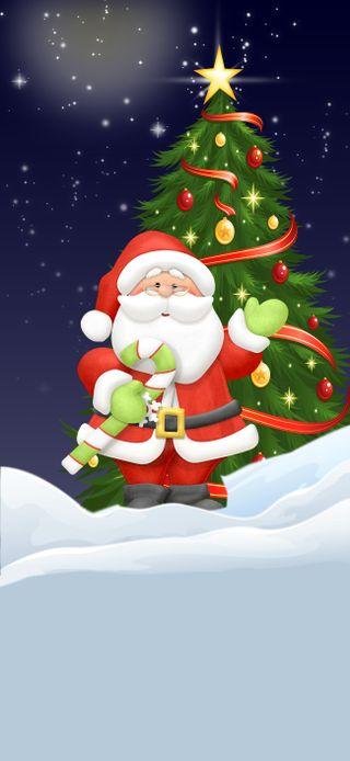 Обои на телефон каникулы, снег, санта, рождество, зима, время, santa time