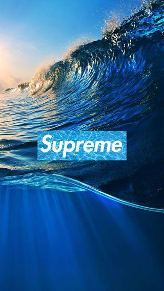 Обои на телефон океаны, океан, морской, море, логотипы, волны, волна, supreme, hd