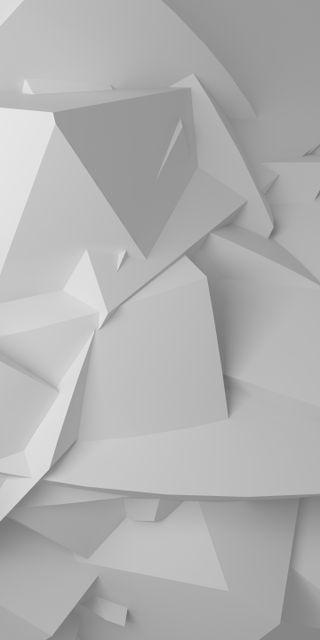 Обои на телефон многоугольник, шаблон, футуристические, фон, белые, абстрактные, angles, 3д, 3d