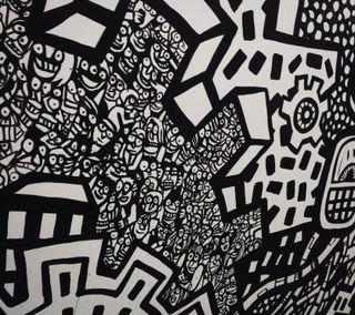 Обои на телефон граффити, черные, аниме