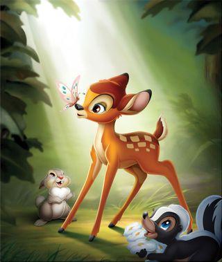 Обои на телефон олень, мультфильмы, милые, дисней, walt disney, thumper, diansy, bambi deer, bambi