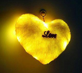 Обои на телефон сердце, светящиеся, приятные, nice glow  heart, 2160x1920