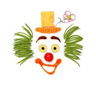 Обои на телефон клоун, еда, лицо, забавные, vegetal clown, vegetable