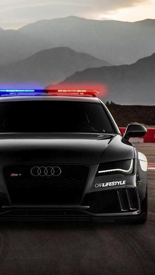 Обои на телефон черные, полиция, машины, ауди, audi rs7 police, audi