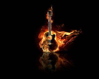 Обои на телефон пламя, гитара, музыка, крутые, freakin, flame guitar