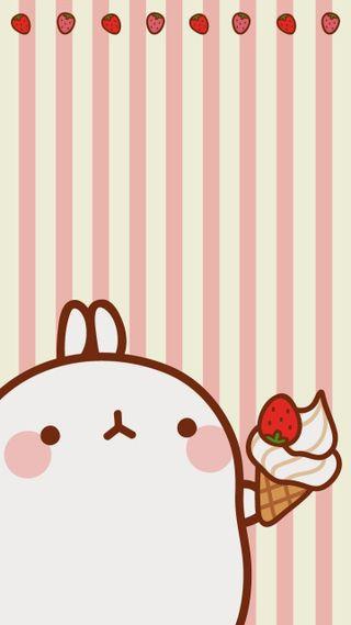 Обои на телефон кролики, милые, лед, кролик, каваи, восхитительные, kawaii bun