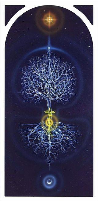 Обои на телефон языческий, солнечный, солнце, небо, лунный, луна, космос, жизнь, дерево, roots, celestial tree life, celestial