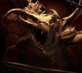 Обои на телефон рептилия, змея, змеевидный, дрейк, зверь, дракон, dragon chained, dragon, chains