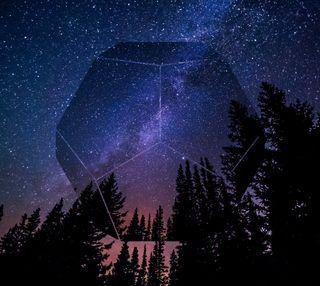 Обои на телефон сфера, священный, математика, геометрия, лес, sacred orb