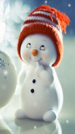 Обои на телефон снеговик, счастливые, новый, любовь, love