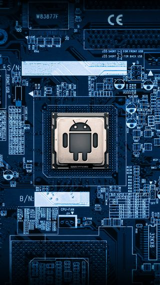 Обои на телефон микросхема, синие, логотипы, андроид, android