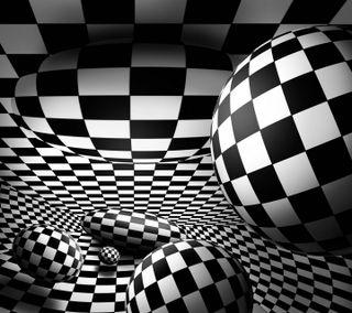 Обои на телефон квадратные, шары, шаблон, черные, сфера, белые, абстрактные, perception