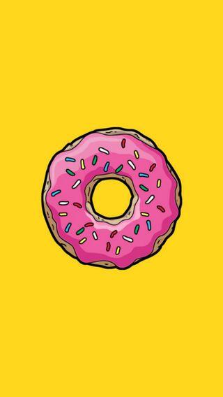 Обои на телефон dough, doughnut, frosting, maggie, marge, snack, розовые, желтые, милые, еда, барт, симпсоны, гомер, сахар, лиза, угощение