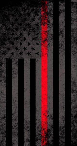 Обои на телефон флаг, support, firefighter