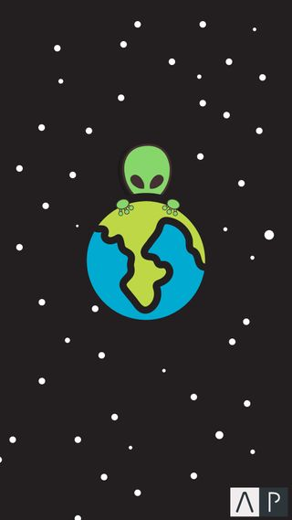 Обои на телефон пришелец, космос, земля, alien in space