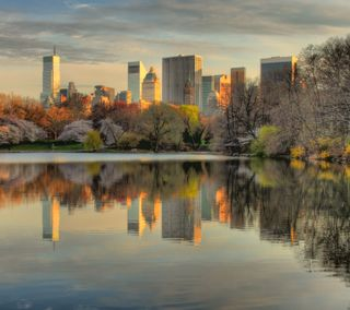 Обои на телефон нью йорк, парк, новый, манхэттен, йорк, закат, new york sunset, central park