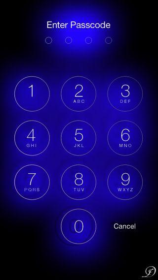 Обои на телефон синие, свет, номер, passcode, keypad, enter, access
