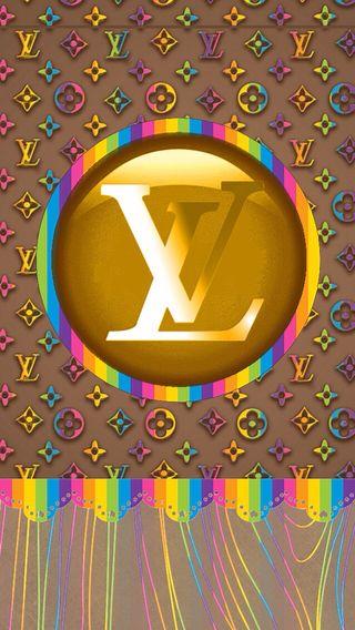 Обои на телефон цветные, луи витон, lv multicolor