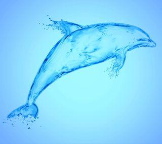 Обои на телефон брызги, синие, капли, дельфины, вода, аква, aqua dolphin
