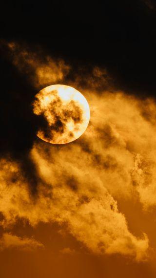 Обои на телефон ужасные, хэллоуин, ужасы, страшные, луна, zedgehallow18, ominous moon