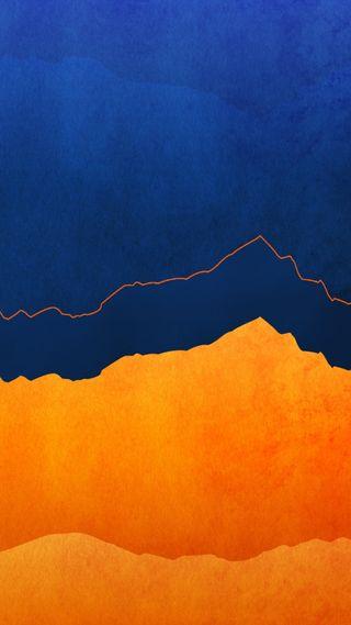 Обои на телефон фон, текстуры, стена, синие, оранжевые, мотивация, абстрактные, 1080p
