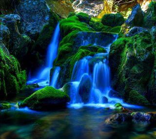 Обои на телефон водопад, река, природа, пейзаж, озеро, море, лес