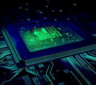 Обои на телефон микросхема, технологии, синие, компьютер, зеленые, electricity, computer chip, chip