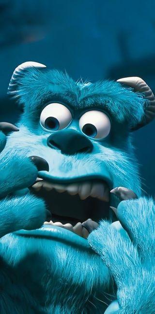Обои на телефон синие, monster inc, monster