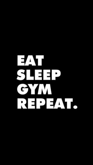 Обои на телефон сон, черные, тело, спортзал, здания, ешь, repeat, body building