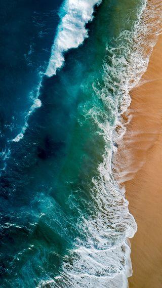 Обои на телефон пляж, пейзаж, окно, море, матовые, windows