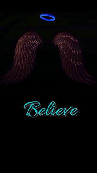 Обои на телефон вера, черные, крылья, верить, ангелы