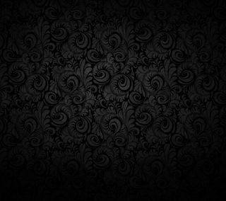 Обои на телефон цветочные, темные, простые, листья, dark swirls