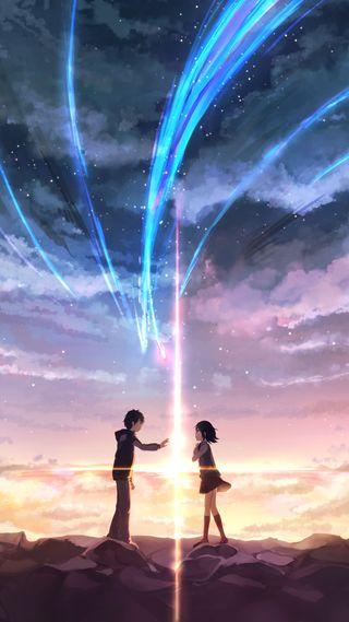 Обои на телефон японские, фильмы, твой, имя, аниме, анимационные