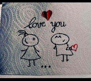 Обои на телефон love, i love you, любовь, аниме, ты, великий