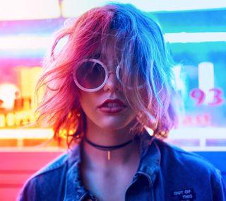 Обои на телефон солнечные очки, модели, девушки, волосы