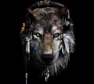 Обои на телефон волк, абстрактные