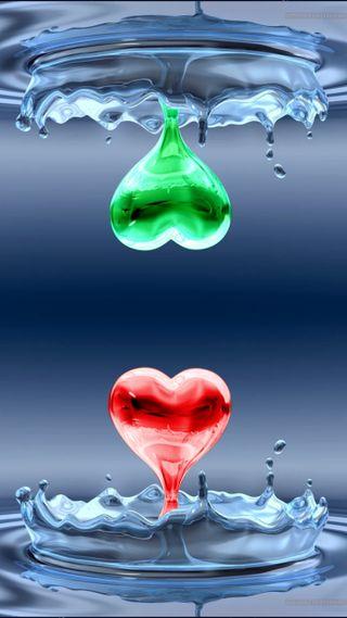 Обои на телефон цветные, сердце, couleur