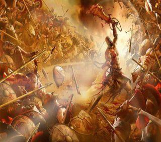 Обои на телефон игра, война, бог, god of war ascension