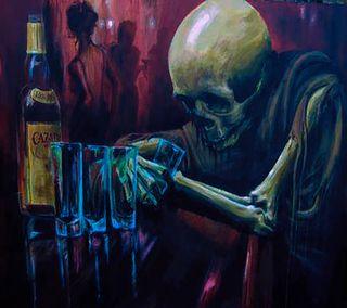 Обои на телефон одинокий, lonely  drinker, drinker, alcoholic, 1440x1280