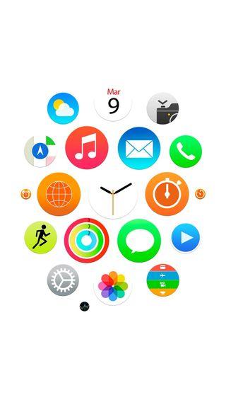 Обои на телефон айфон 6, стиль, белые, iwatch style white, iwatch