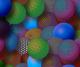 Обои на телефон шары, неоновые, абстрактные, 3д, 3d