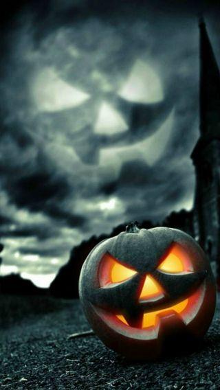 Обои на телефон тыква, хэллоуин, страшные