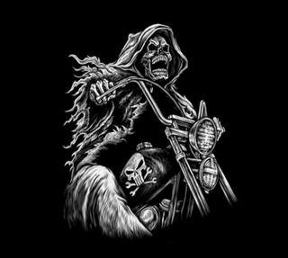 Обои на телефон байк, череп, крутые, забавные, байкер, skull biker