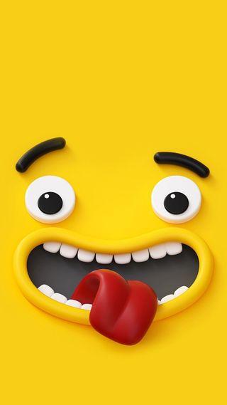Обои на телефон язык, рисунки, омг, мультфильмы, красые, зубы, забавные, желтые, глаза, scared