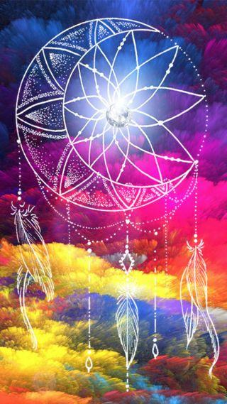 Обои на телефон ловец снов, цветные, мечта, красочные, colorful dream