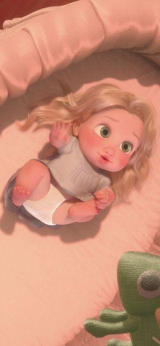 Обои на телефон baby princess, baby rapunzel, disney, милые, девушки, дисней, малыш, принцесса, рапунцель