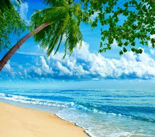 Обои на телефон рай, тропические, пляж, океан, море, coastal