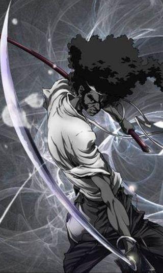 Обои на телефон самурай, клинок, волосы, бок, блестящие, shiny blade, pork chop side burns, lemonade, big hair, afro samurai
