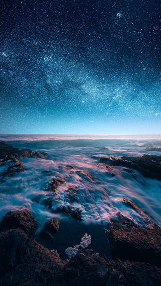 Обои на телефон отлично, цветные, фотография, фото, пейзаж, океан, мечтательные, луна, красочные, картина, звезды, закат, деревья, горы, восход, вода, вайб, артистические, арт, stardust, picturesque, fine art, environment, art, Zach Doehler, Stardust, Doehler, Calibreus